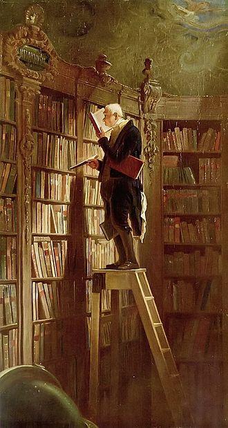 il topo da biblioteca (1850 circa) di Carl Spitzweg