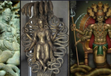 Divinità rettiliane Naga serpenti che vivono in grandi città sotterranee